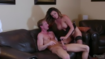 Fascinating dark Danica Dillon results in letting a piece ingest her clit before a fuck