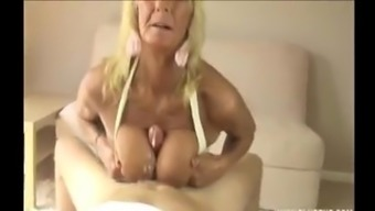 Britain Granny large tits wanking great lift.m4v