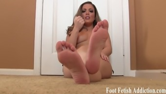 Blow given on my cute little pedicured toes