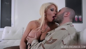 Getting Alura Jenson's worthless tits despite the fact that relaxing her