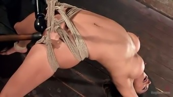 Needled on buxom hoe Nadia Patterns is busy and taunted with the dildo