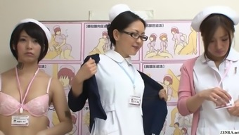 JAV CMNF category of nurses piece exposed for affected person Subtitled