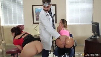jada stevens and mischa brooks getting their asses laid a hand by dr. corvus