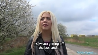General public Service provider Lovely Winger Young adult Blond Fucked on Desert