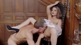 Infrequent view with Alessandra Jane touching and fucking hard