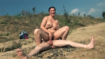 Naked Grow older on Beach along with 2(two) attractive cocks