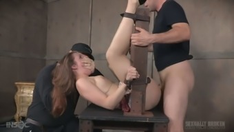 Fixed by using belts amenable His wife nora Ufirst warrants a number of hard MMF threesome