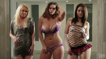 Plus size moaner Alison Tyler and her foul girlfriends get away clothing