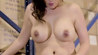 Major breasted an owner of fuzzy cunt Danica Dillon excursions solid penis on top