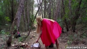 lexi lowe being a little scarlet using hood saw big undesirable wolf