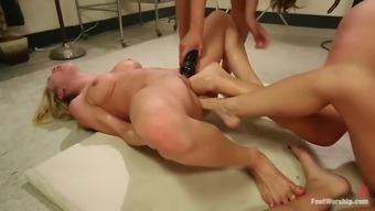 hardcore leg fisting lesbian orgy with the use of four spectacular whores