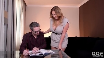 Tutor fucks his Obviously Busty Wife before Excursion
