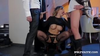 Sprightly Tit Anna Polina Gets Several Difficult DP
