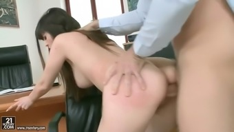 tattered gentle fucks her husband's employee in business office