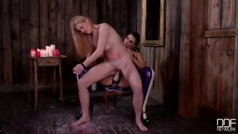 spare big tits subwoofer slut tasha holz gets straponed by mean mistress anna polina