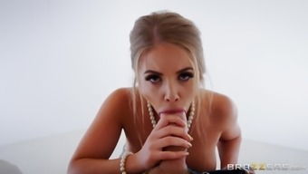 Well designed pure honey Alessandra Jane is a good thing at touching a penis