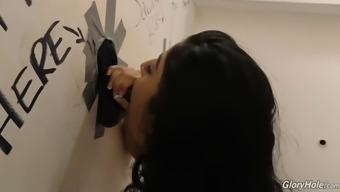 pakistani bitch with the use of great boobs nadia ipak in comparison to bbc in gloryhole room