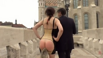 Unused assed babe along with fur booty bung Tina Kay is fucked in public