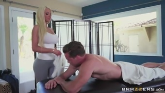 Mean brown Nicolette Shea desires to be fucked very difficult by the male model