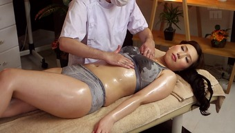 Warm Japanese people milf on the massage therapy table for pointer fucking