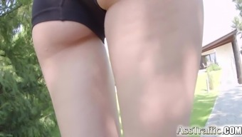 Ass Traffic Shine dog Misha Go over does remarkable anus by using wide