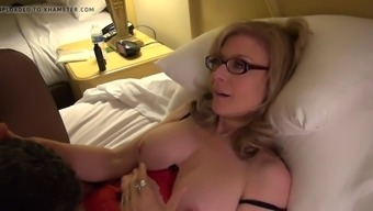 Nina Hartley teaches cherry touching using old dude's have to deal with