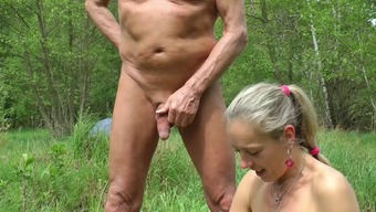 Car Sporadic, wanking in woodland and seashore, intercourse by using spectators