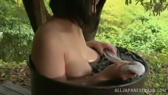 Cute Japanese Babe Needs a Nice Bathroom Outside In A Wonderful Tale