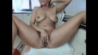 Heated Brown Chick Along with a Wonderful Body Teasing