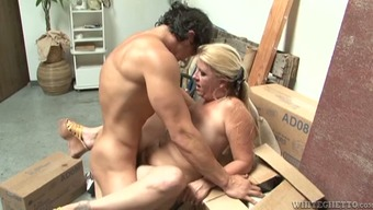 Round MILF gets fucked with some Far eastern stud within the utility room