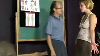 Mandy gets her stupid ass brutally spanked by her suggestive instructor