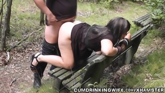 Dogging companion fucked by strangers in October 2014