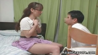Attractive oriental by using great bosoms residence instructor part1