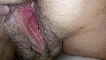Large HAIRYass WET Genitals