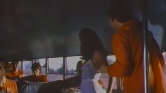 Cute popular brown gives eager blowjob within the bus