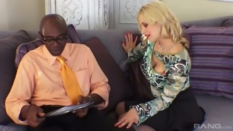 Hot PAWG Sarah Vandella is very good at take care of her dark colored lover's very penis