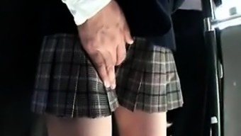 Lovely From asia schoolgirl has a horny guy endearing her puss