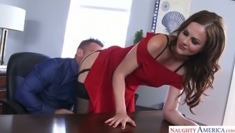 Beautiful and flirty co personnel Tina Kay always realizes time intercourse