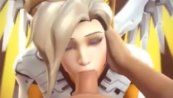 Mercy from overwatch compilation creampie