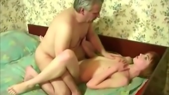 Czech dad fucks his female offspring