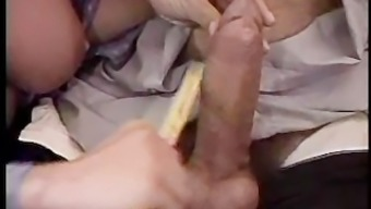 Big tits Italian red colored scalp tickles his pickle