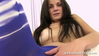 Amateur czech youngster in their first dollhouse activated peak