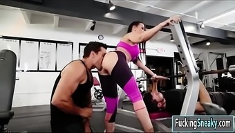 Rachel Starr gets fucked in the fitness center
