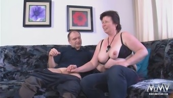 Chunky granny along with sagging titties fucking grimy in motivating pornography clip