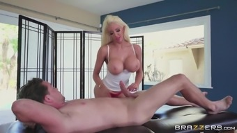 Nicolette Shea is a missy with the use of massive boobs craving to trip a hard on