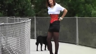 Sizzling Milf in Latex High heel sandals Stockings. View part2 at goddessheels