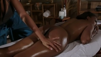 Erotic massage appointment by using really outstanding looking beauty titled Anya Ivy
