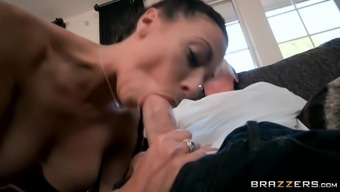 Rachel Starr serves as a blonde with a nice booty who might likes using a dong