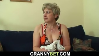 younger dude bangs sixty(60) years old granny