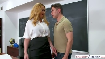 Horn-mad Math tutor Janna Hicks lures her colleague for some good sex